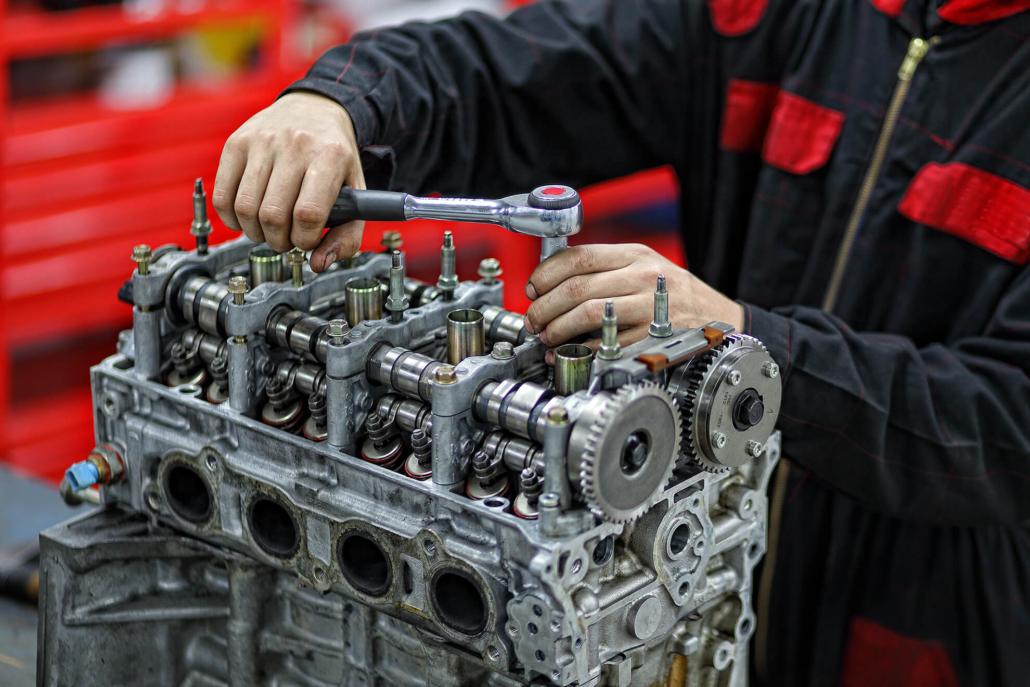 Préparation moteur : Lotus-K20-montage-blanc