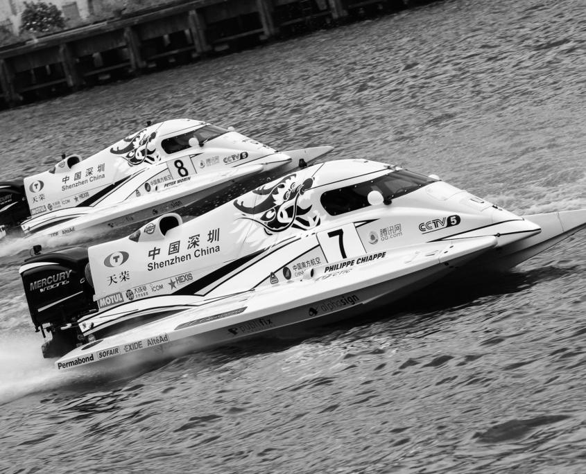 Optimisation moteur bateau de course : course-grand-prix-chine