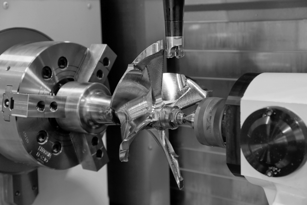 Prototypage taillé masse : hélice semi finition