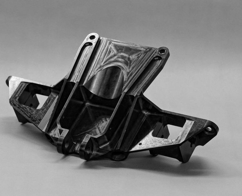 Prototypage taillé masse : Support de suspension anodisé